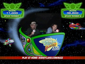 Dad and Maggie battle Emperor Zurg