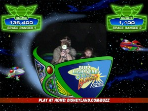 Jim and Emily battle Emperor Zurg.  Jim gets the high score!